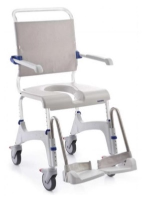Height Adjustable Shower Commode Chair with Leg Rests