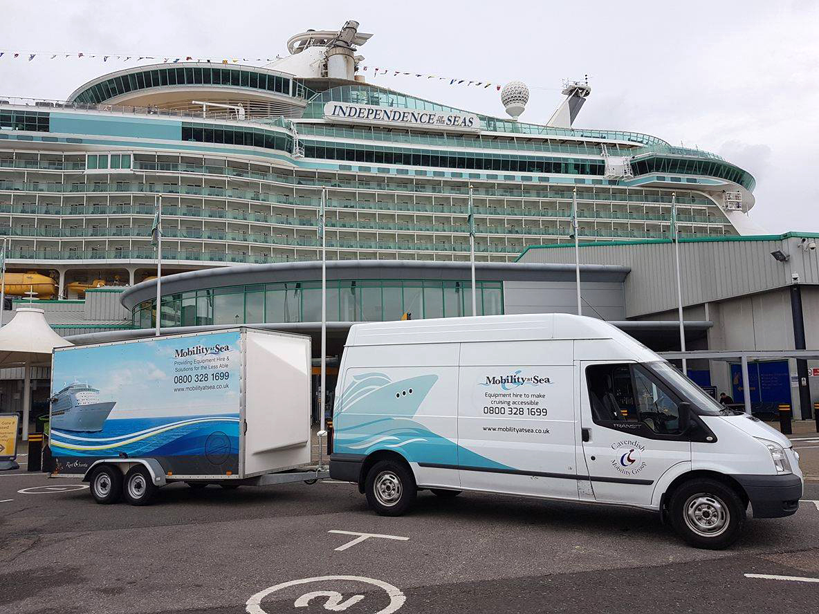 Independence of the Seas with Mobility at Sea van and trailer